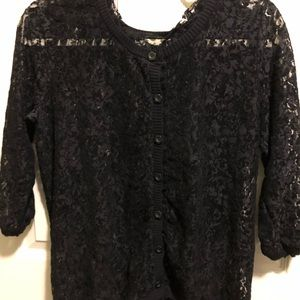 S/M lace sweater.